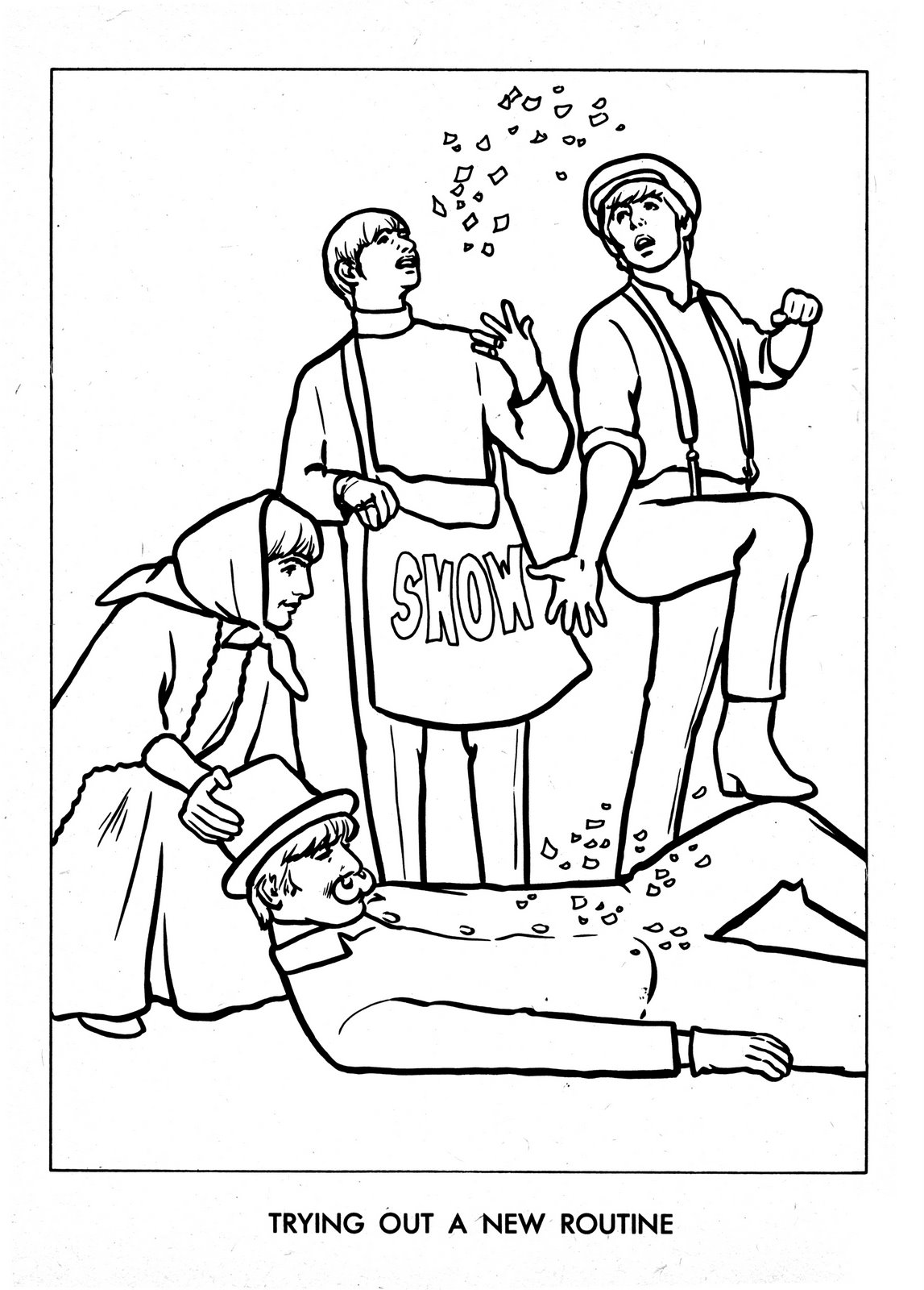 Beatles coloring book pages sketch coloring page for Beatles coloring book pages